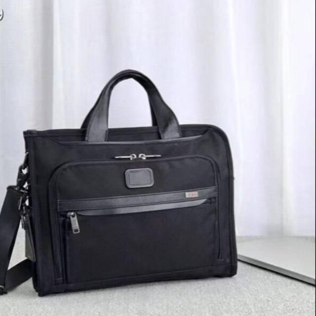 TUMI Alpha 3 Briefcase Slim Portfolio Deluxe Mirror Quality