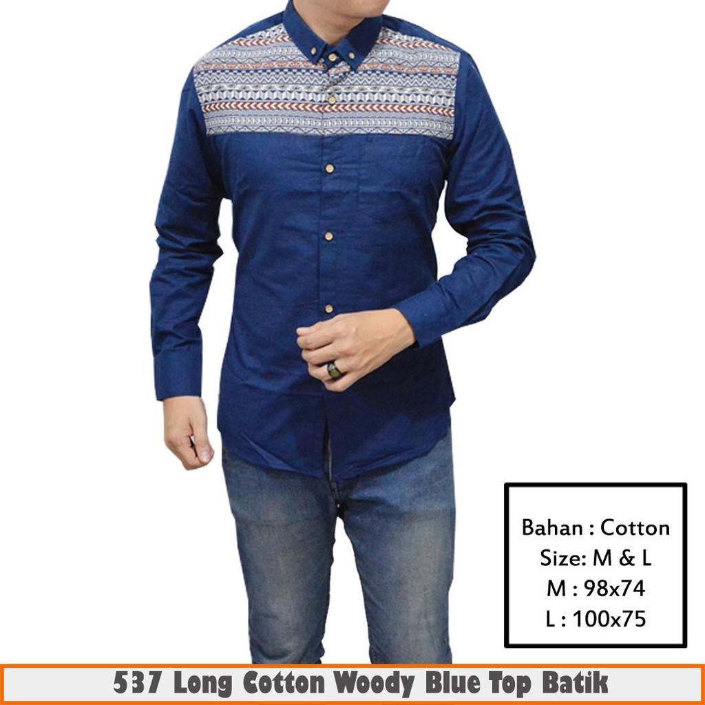 Gudang Fashion - Batik Kasual Pria - Biru. Source · Dapatkan Harga .