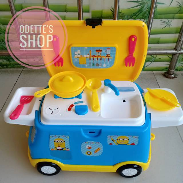 Mainan Anak Happy Kitchen Set Mainan Masak Masakan Mobil Shopee Indonesia