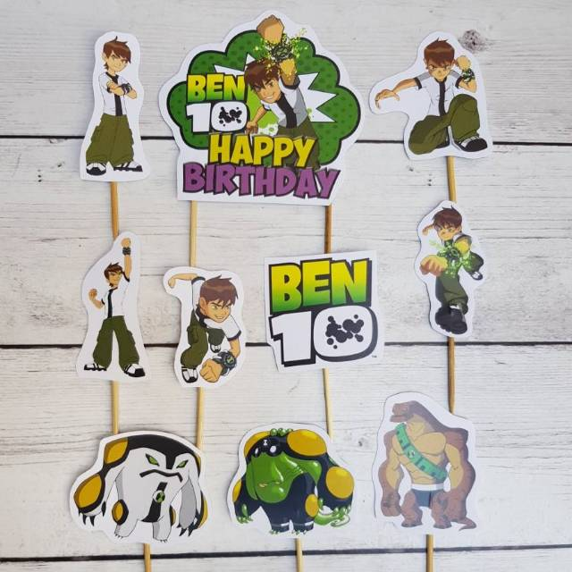 Cake Topper Ben 10 (1 set isi 10pc) | Shopee Indonesia