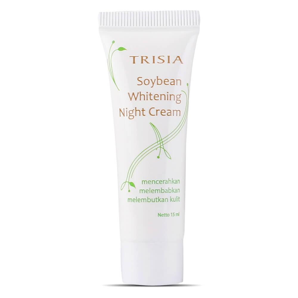 Paket Facial Foam Soybean, Soybean Whitening Day Moisturizer, Whitening Night Cream Trisia   Shopee Indonesia