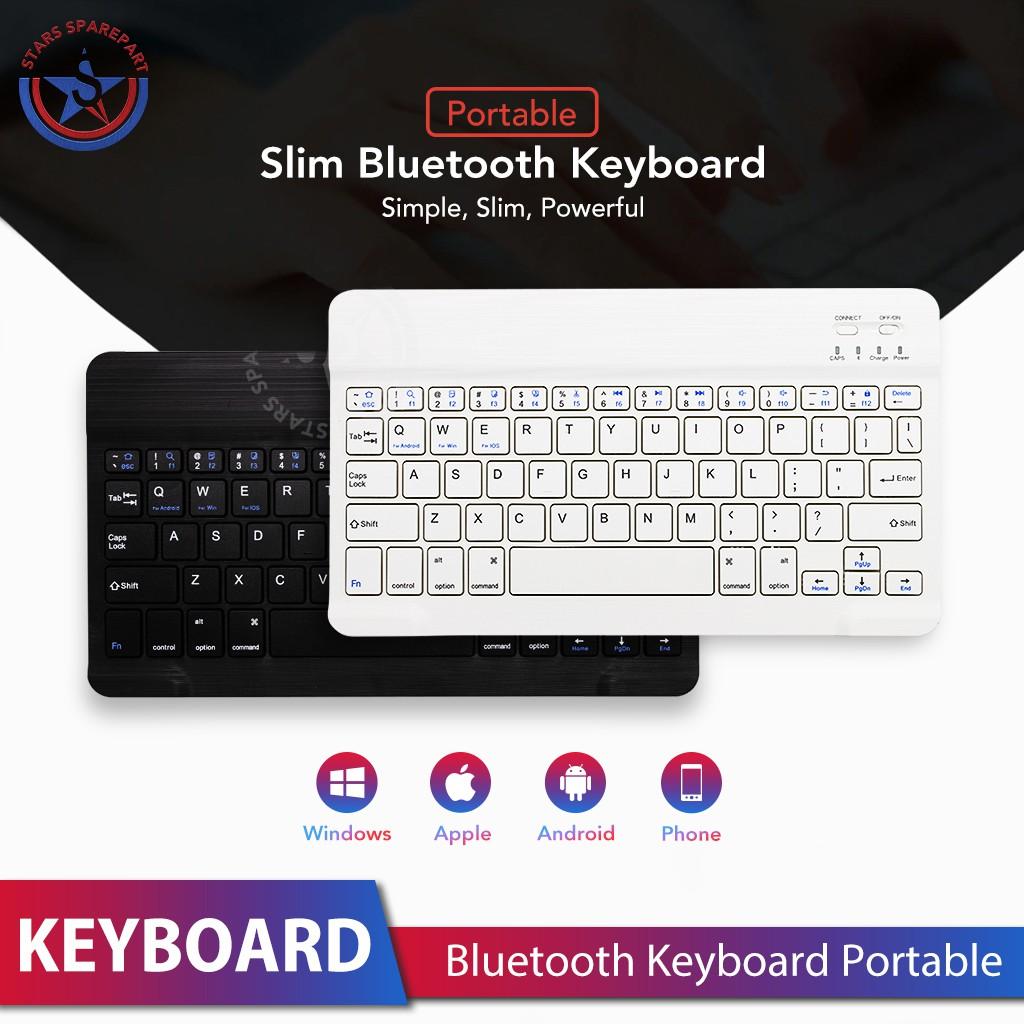 Mini Wireless Bluetooth Keyboard Slim Thin Design for Windows / Android /  iOS / PC