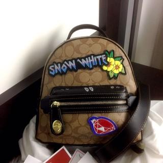 a3e57f2964e4ce Tas COACH Disney X Coated Snow White Campus Backpacks SS18 62565 (lyn)