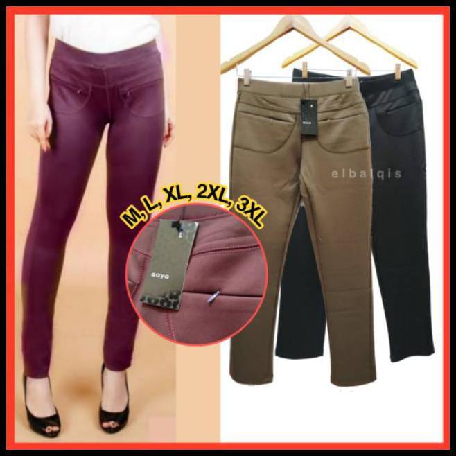 Celana Legging Licin Import Saya Big Size Jumbo Elbalqis Pants Panjang Wanita Shopee Indonesia