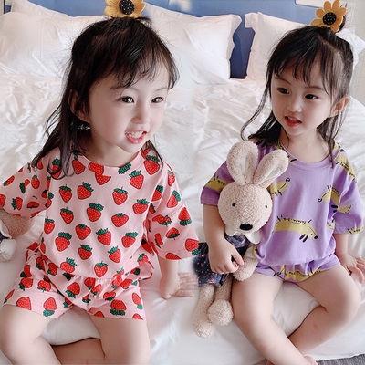 Setelan Piyama Katun Bayi Anak Laki Laki Perempuan Lengan Panjang Gambar Kartun Lucu Celana Shopee Indonesia