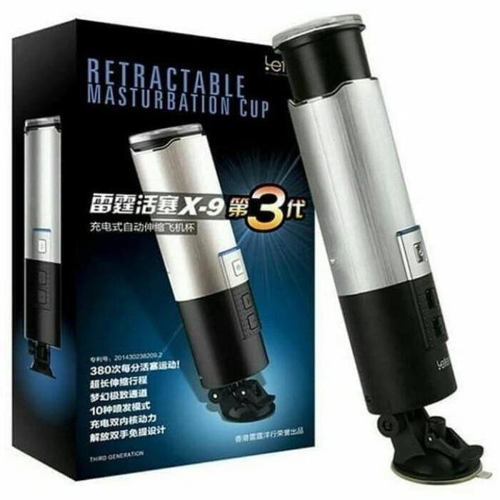 Leten X9 Masturbations Men Cup Telescopic Retractable Alat Terapi Pria
