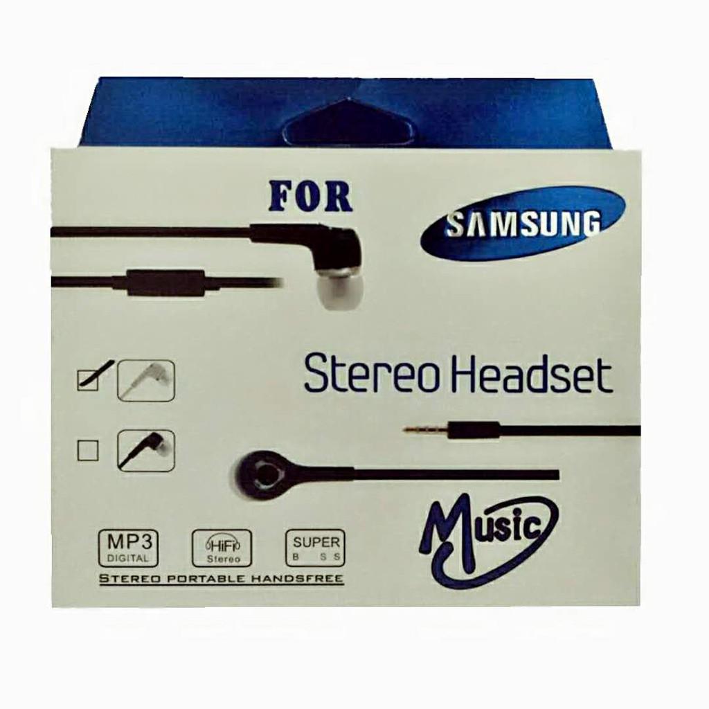 Headset Handsfree Earphone SAMSUNG Stereo Plus Mic FF2