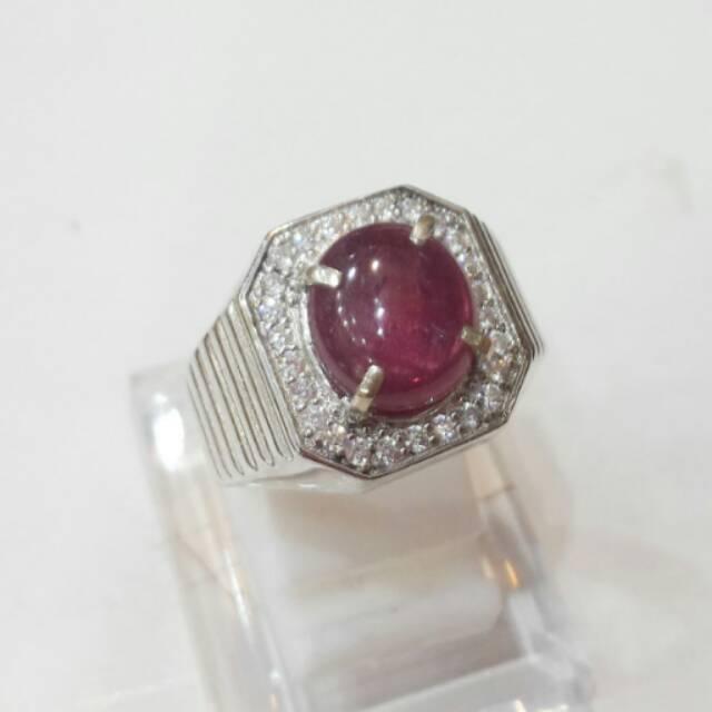 Cincin Perak Pria Batu Ruby Afrika 04 Shopee Indonesia
