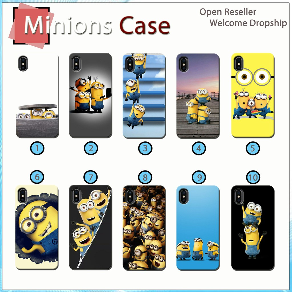 [JS 45] Case 3D Minions For All Type Smartphone Fullprinting