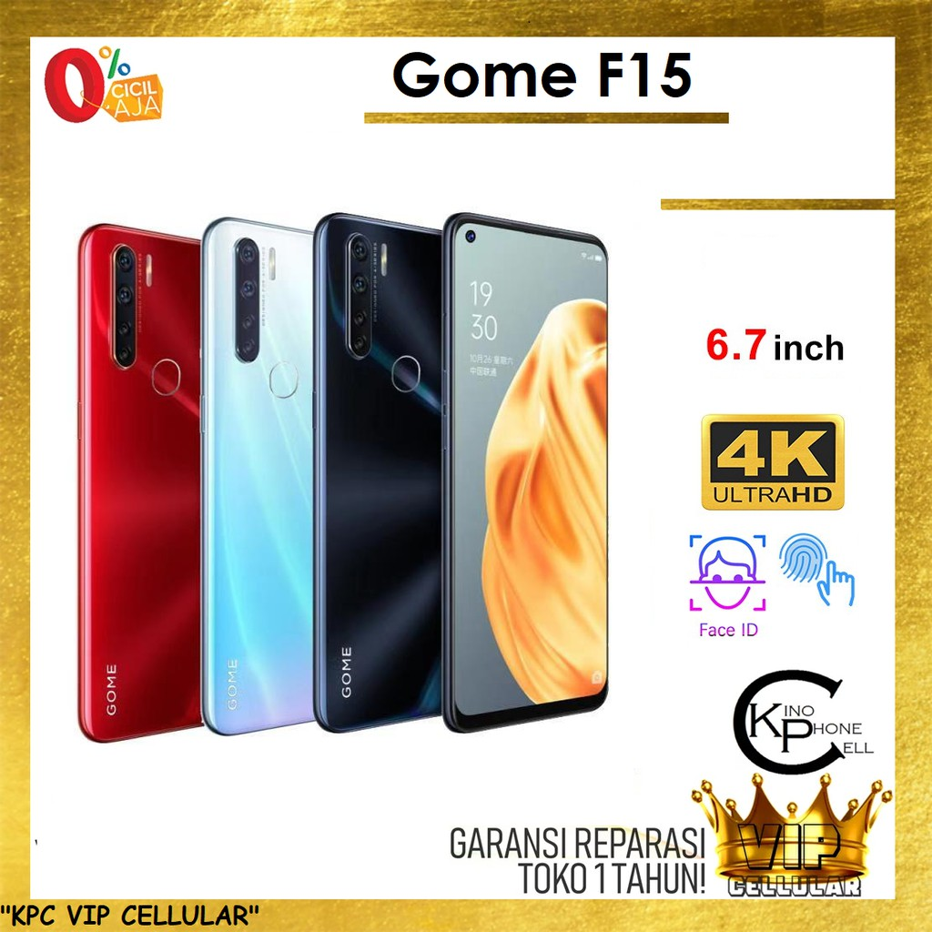 "Gome F15 | RAM 4GB & ROM 64GB Jaringan 4G Smartphone 6.7"" HP Android Speksifikasi U10 Pro"