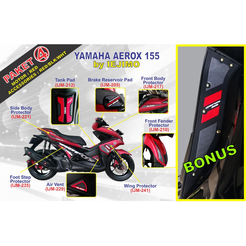 Paket Aksesoris Resmi Honda Cbr 150r K45a Shopee Indonesia All New Scoopy Sporty White