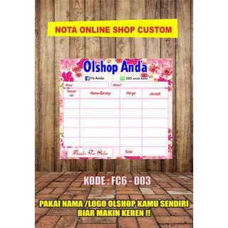 Nota Online Shop Customkwitansiinvoicefakturtanda Terima Full Colour