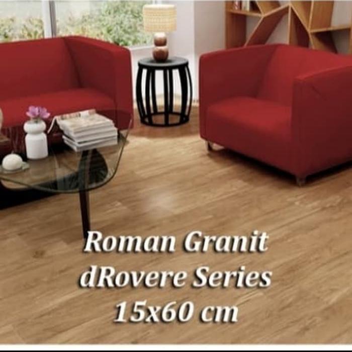 Granit / Granit Motif Kayu Roman Drovere Series Kw2 Ukuran 15X60