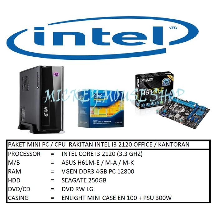 PC PAKET MINI PC / CPU RAKITAN INTEL I3 2120 OFFICE / KANTOR