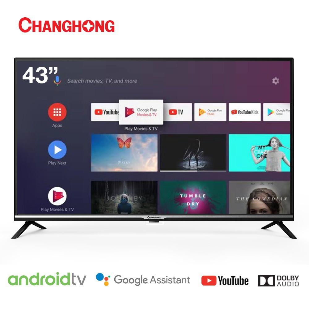 Changhong Google certified Android Smart TV 43 Inch Digital TV HD LED TV-L43H4-Garansi Resmi 3Tahun