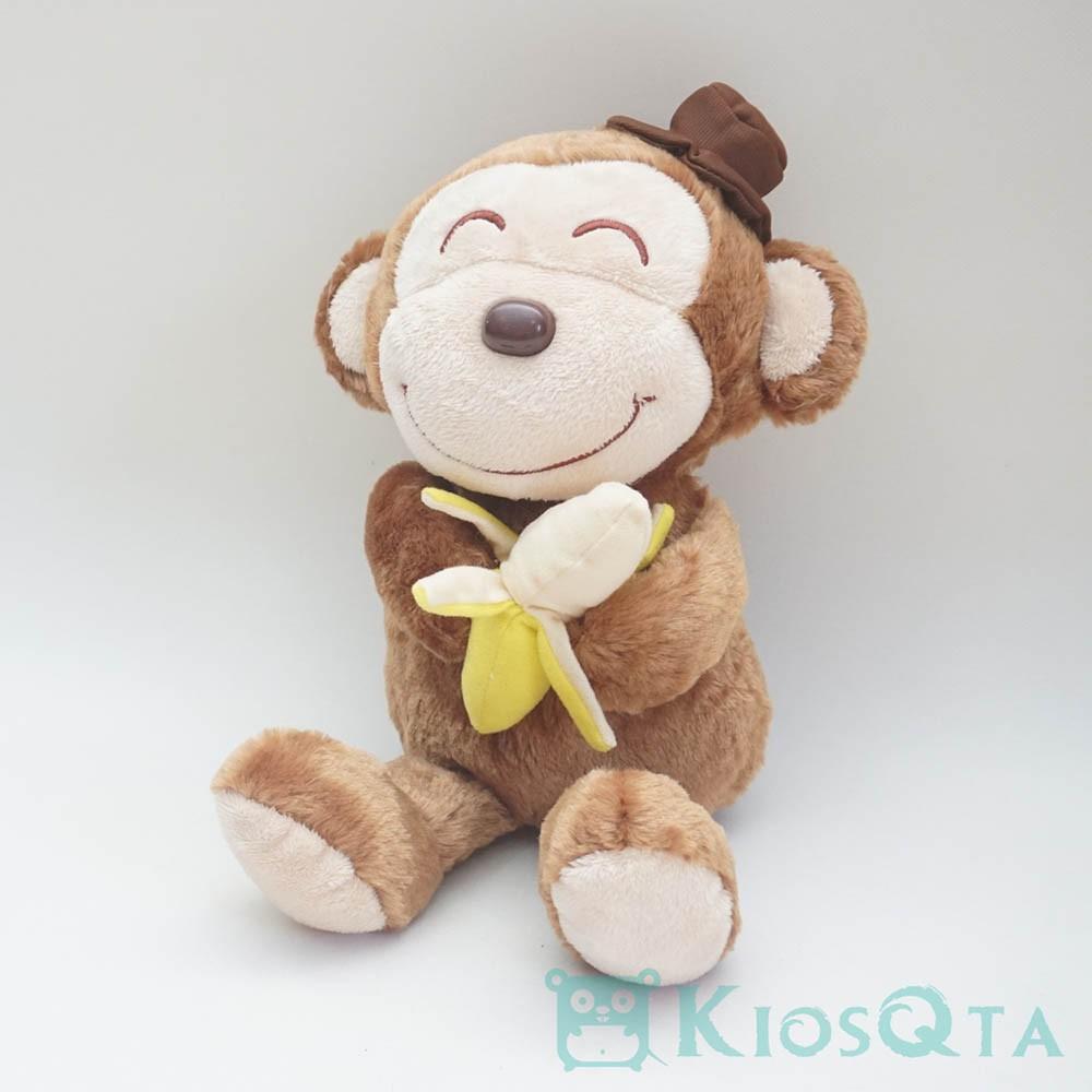 Gambar Monyet Bawa Pisang Boneka Monyet Coklat Topi Bawa Pisang Shopee Indonesia