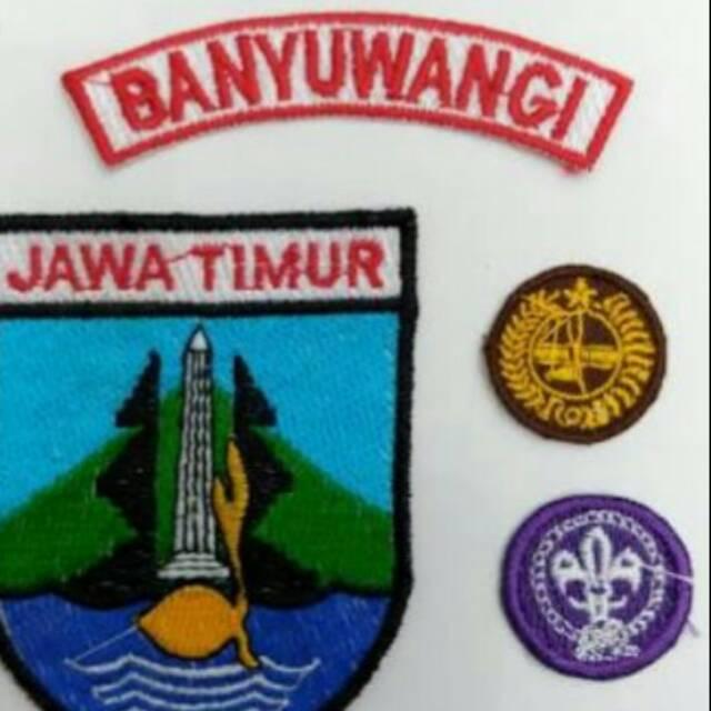 Set Pramuka Jatim Custom Lokasi Kwarda Shopee Indonesia