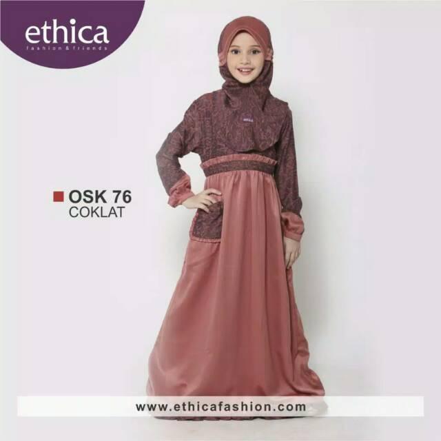 Gamis Anak Osk 76 Coklat Elfa 13 By Ethica Shopee Indonesia
