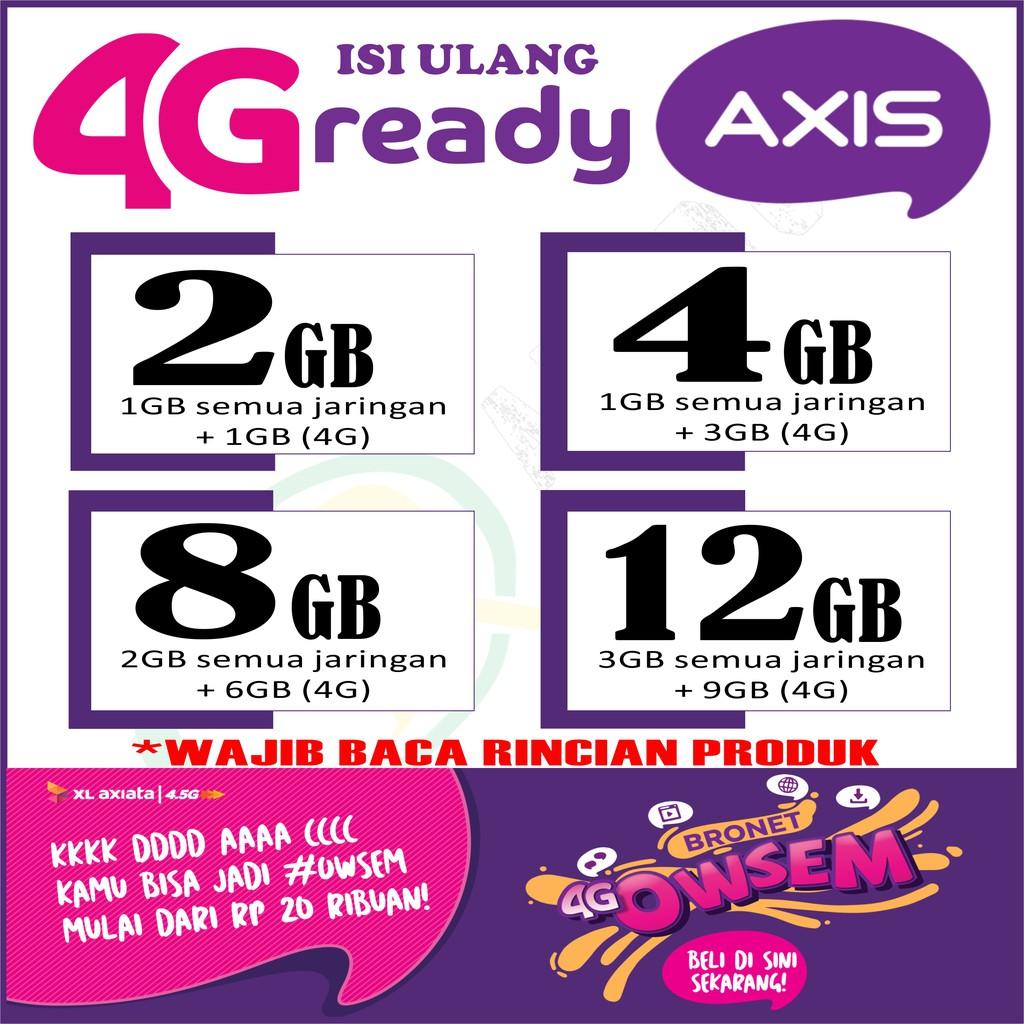 Voucher Paket Data Kuota Internet Axis 4g Bronet Aigo Shopee Indonesia