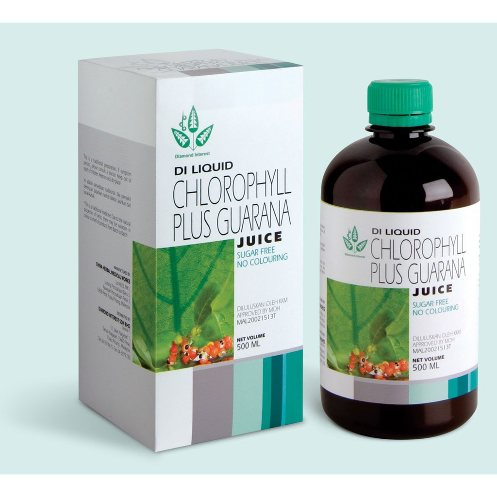 Klorofil Chlorophyll Plus Guarana 500 Ml Untuk Membersihkan Ra Klink 500ml Shopee Indonesia