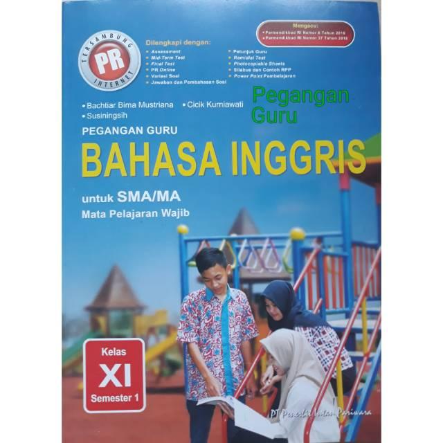 Buku Pegangan Guru Soal Kunci Bahasa Inggris Kelas Xi Semester 1 K13 Revisi Cetakan 2019 Shopee Indonesia