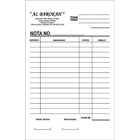 Diskon Nota 14 Folio 2 Rangkap 1warna