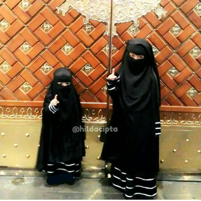 Gamis Abaya Set Khimar Niqab Bandana Anak 1 12thn Promo Ramadhan Shopee Indonesia