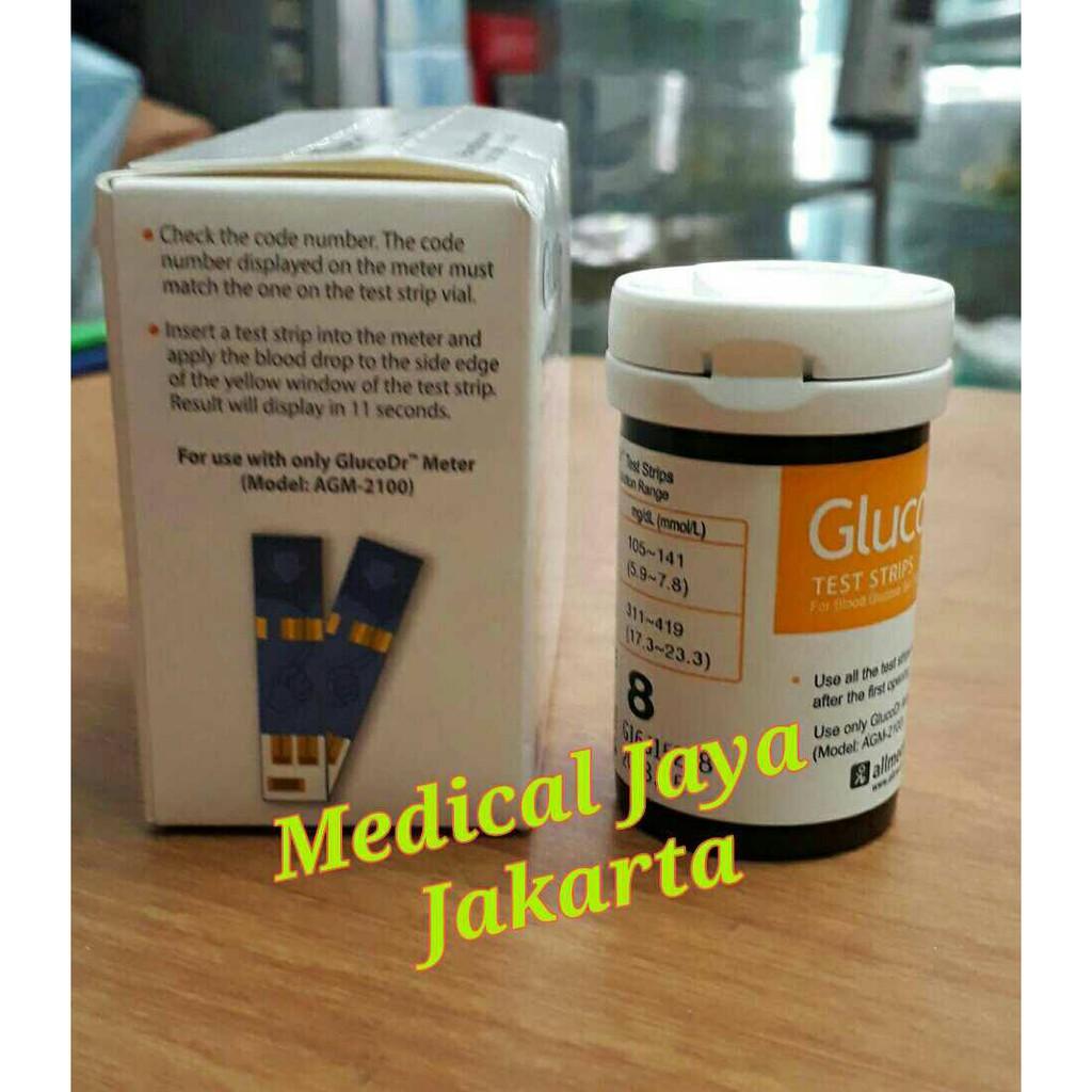 Gluco Dr Bio Sensor Agm 2100 Tes Gula Darah Glucodr Biosensor Murah Strip Supersensor 2200 Shopee Indonesia