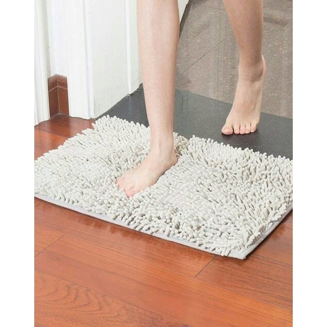Keset Cendol Dof 40 x 60 cm / karpet bulu / alas / doormat chenille | Shopee Indonesia