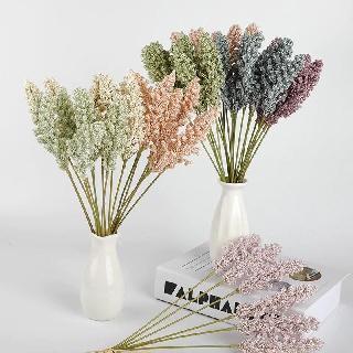 6pcs bunga lavender grain spike plastik - bunga buatan