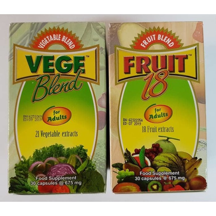 Fruit 18 Jr Isi 30 Kapsul Shopee Indonesia Source · Paket Vege Dewasa 30 Kapsul dan Fruit Dewasa 30 kapsul Vegeblend and fruitblend dewasa