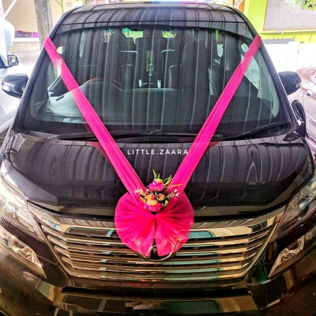 Promo Paket Hemat Wedding Car Dekoration Dekorasi Mobil Pengantin Bunga Mobil Pengantin