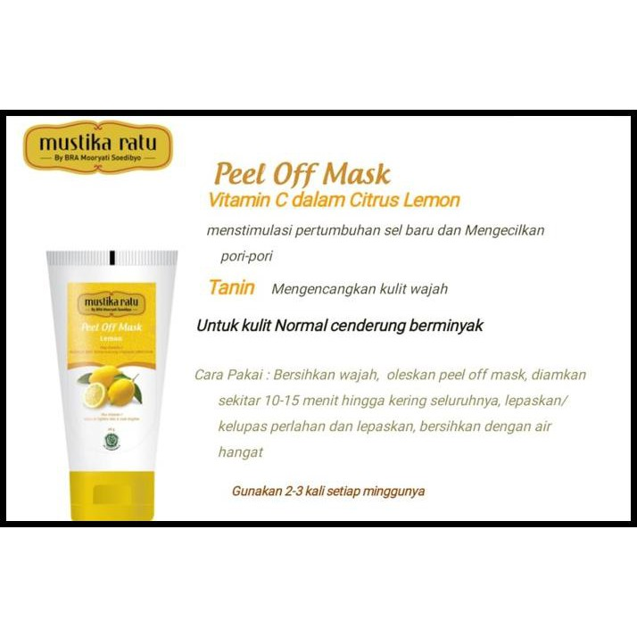 Mustika Ratu Peel Off Mask Lemon .