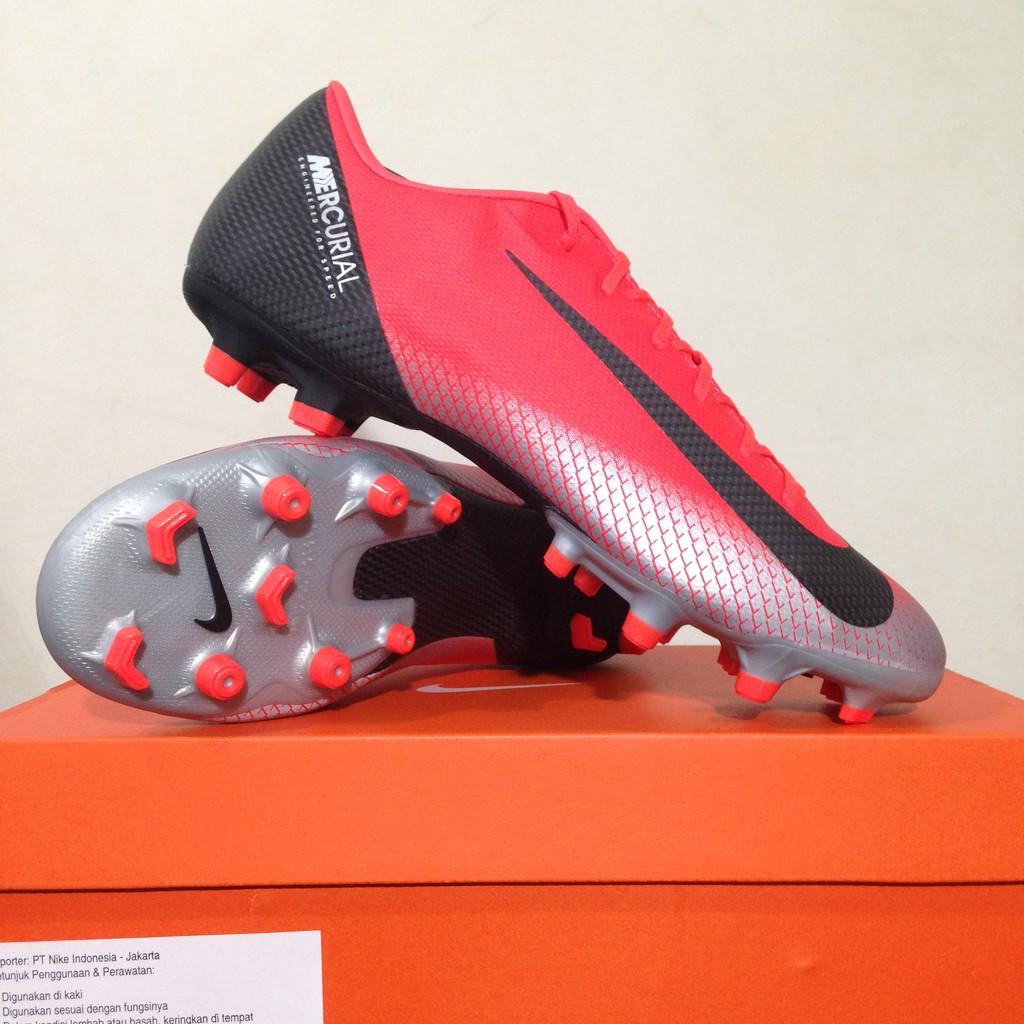 Sepatu Bola Nike Vapor 12 Club FG MG Volt Black AH7378-701 Original BNIB  db33226247