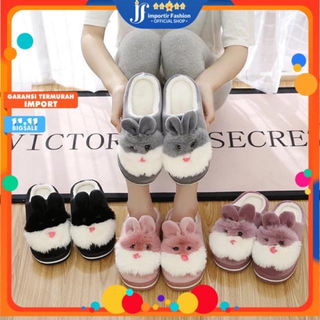 [IF] SB-003/Sandal Bulu Indoor / Sandal Kamar / Flip Flop