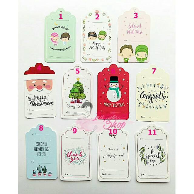 Greeting Card Kartu Ucapan Tag Congrats Natal Idul Fitri