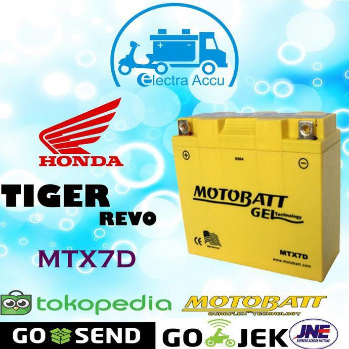 Aki motor honda Tiger Revo motobatt MTX7D Aki Kering / Aki Gel