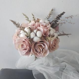 Buket Bunga Pita Satin Mt0218 Hand Bouquet Bunga Tangan Pengantin Wisuda Weeding Hadiah Shopee Indonesia