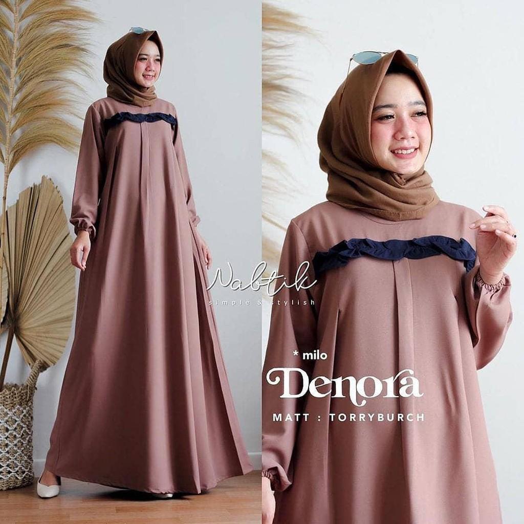(COD)-Baju Muslim Wanita Gamis Polos Terbaru 11 LD.11-11 PB.11 BAHAN  MOSCREPE RESLETING DEPAN