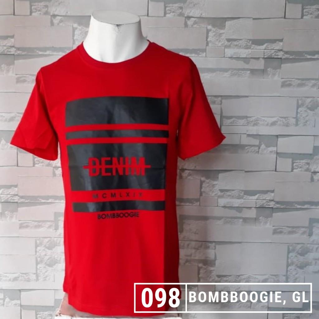Baju distro bandung BOMBBOOGIE kaos bahan katun murah  a8176c9336
