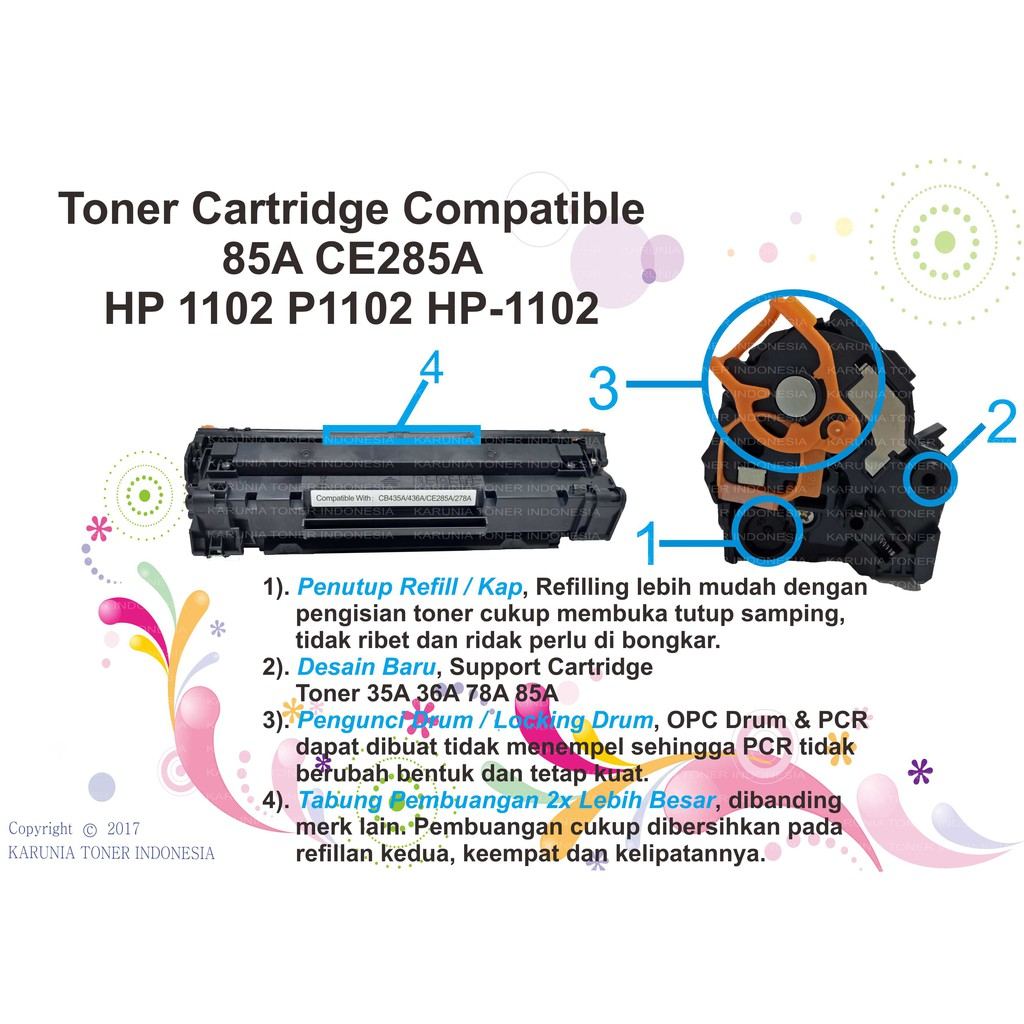 Chip Toner Cartridge Xerox P355d M355df 355df Shopee Indonesia Opc Drum Hp Ce255a 55a Laserjet P3015