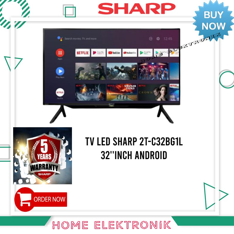 SMART TV ANDROID SHARP 2T-C32BG1L 32''INCH