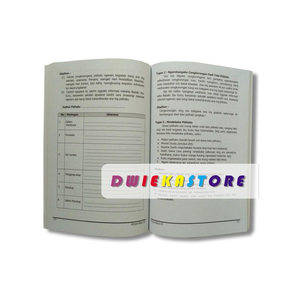 Buku Bahasa Jawa Kirtya Basa Kelas 9 Kurikulum 2013 Edisi Revisi 2018 Shopee Indonesia