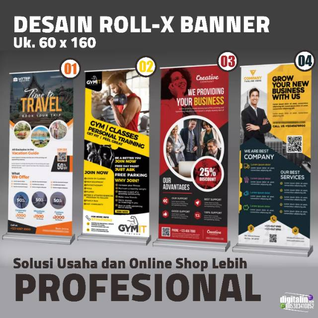 Desain X Banner Bisnis dan Online Shop By Digitalin aja ...