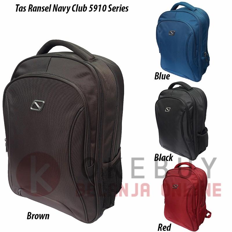 Tas Ransel Laptop NAVY CLUB 8660 Daypack 23L - Black Blue  dce1663a99