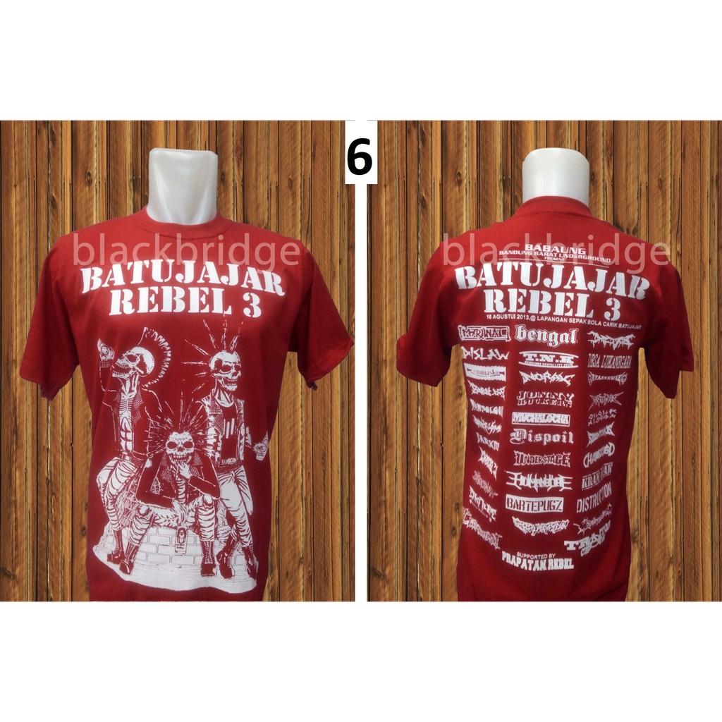 Kaos Bombardir Bom Shopee Indonesia Ramayana Raf Tshirt Hitam Titanium Xl