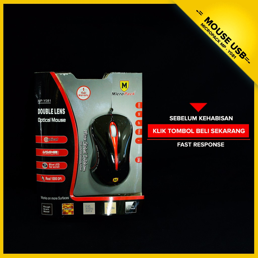 Mouse Double Lens Micropack Mp 212r Black Red Shopee Indonesia Laser 313g Grey Pad