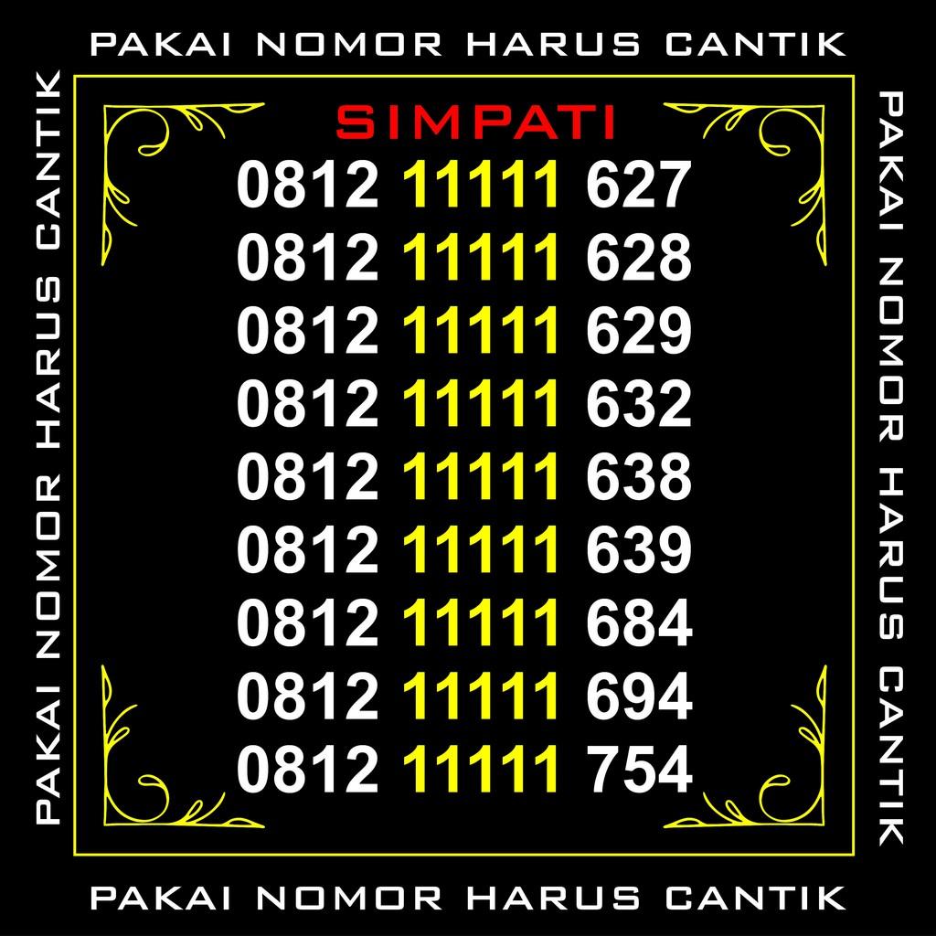 NOMOR CANTIK SIMPATI PANCA 9 KARTU PERDANA TELKOMSEL 4G NOMER SERI 0812 799999 81 | Shopee Indonesia