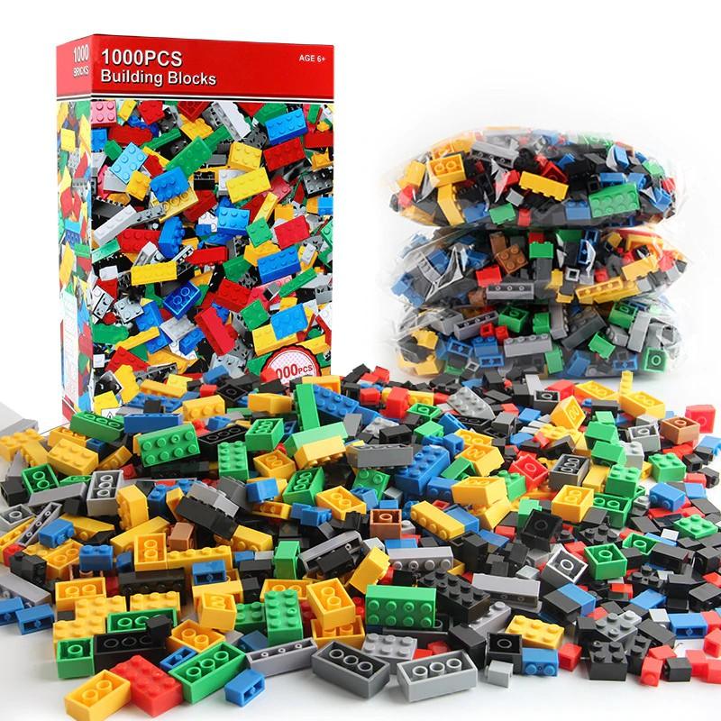 500//1000PCS DIY Building Blocks Bulk Sets City  Bricks Toys Children Kids Gift