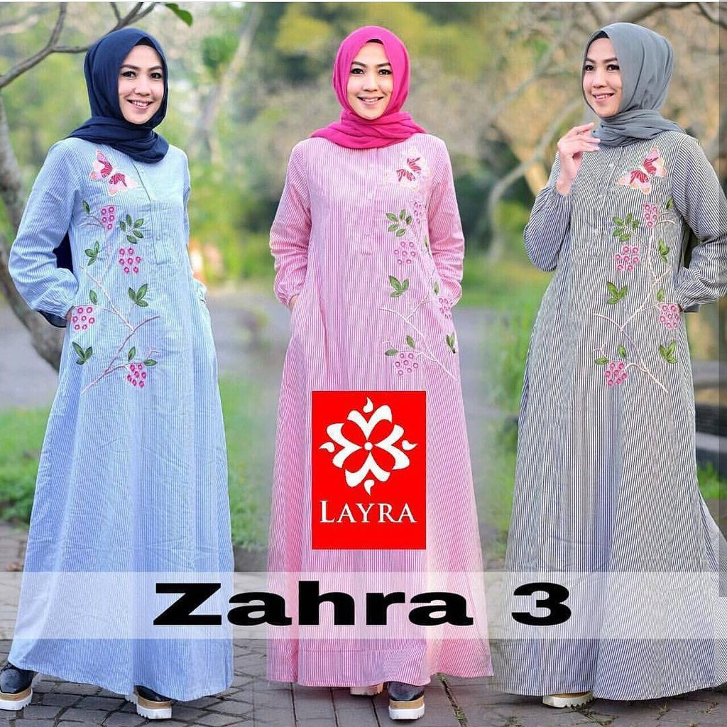 GTA Zahira Dress Strip baju murah murah grosir  6d8ac5c35b